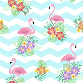Modèle sans couture de flamingo