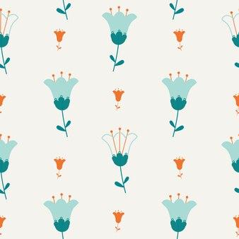 Le modèle sans couture de fleur abstraite