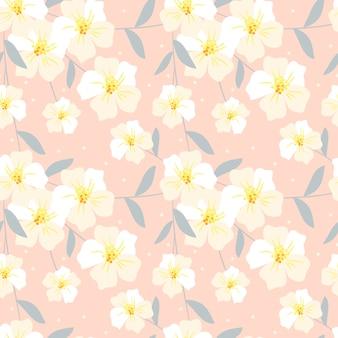 Modèle sans couture de fleur douce