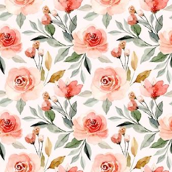 Modèle sans couture de fleur floral aquarelle