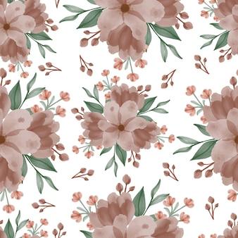 Modèle sans couture de fleur marron clair
