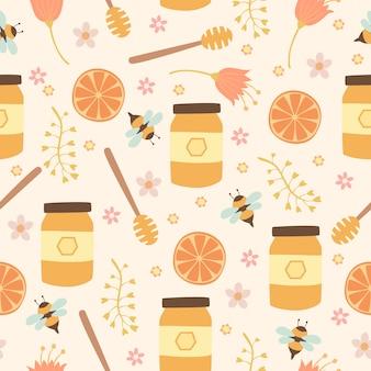 Modèle sans couture de fleur de miel