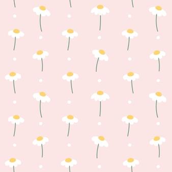 Modèle sans couture de fleur mignon