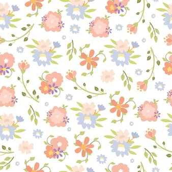 Modèle sans couture de fleur pastel