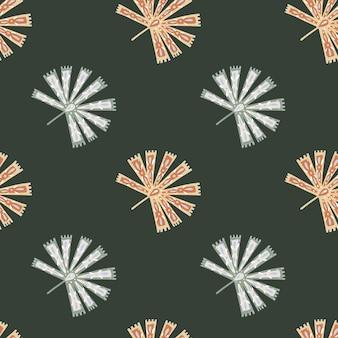 Modèle sans couture de fleur avec la paume de licuala folklorique botanique
