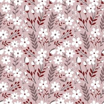 Modèle sans couture de fleur poussiéreuse colorée