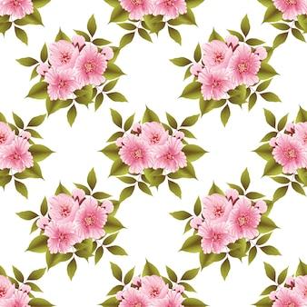 Modèle sans couture de fleur de sakura