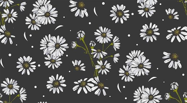Modèle sans couture de fleur.