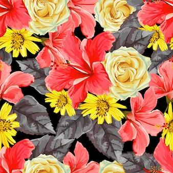 Modèle sans couture de fleur
