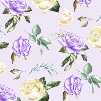 Modèle sans couture avec des fleurs à l'aquarelle