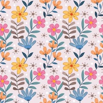 Modèle sans couture de fleurs colorées pour papier peint textile tissu.