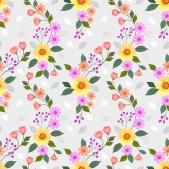 Modèle sans couture de fleurs colorées