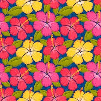 Modèle sans couture de fleurs colorées.