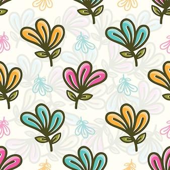 Modèle sans couture avec des fleurs colorées
