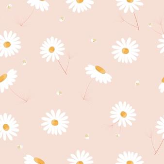 Modèle sans couture de fleurs dessinées à la main mignon