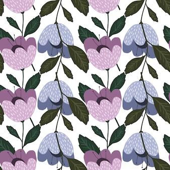 Modèle sans couture de fleurs géométriques de mode. papier peint fleuri. belle texture botanique vintage. joli design pour tissu, impression textile, emballage, couverture. illustration vectorielle.