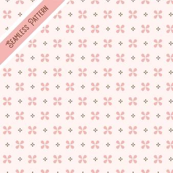 Modèle sans couture de fleurs géométriques.