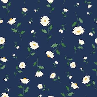 Modèle sans couture de fleurs de marguerite