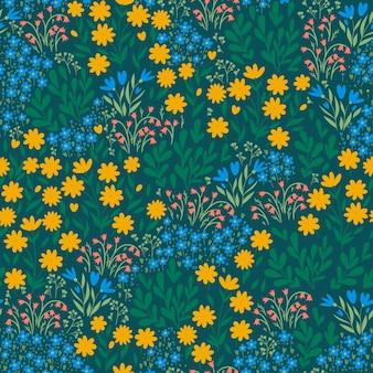 Modèle sans couture avec fleurs de prairie.