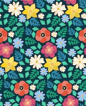 Modèle sans couture de fleurs de printemps