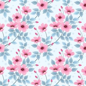 Modèle sans couture de fleurs sauvages