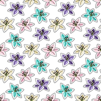 Modèle sans couture de fleurs tropicales
