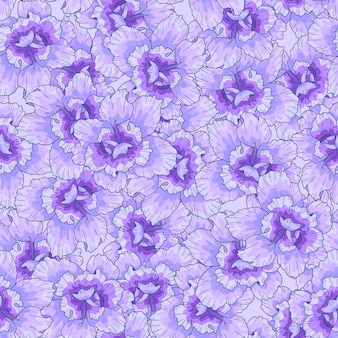 Modèle sans couture avec des fleurs violettes. texture pour l'impression, le tissu, le textile, le papier peint.