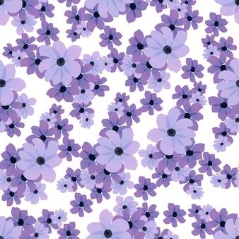 Modèle sans couture de fleurs violettes