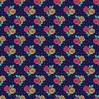 Modèle sans couture avec des fleurs.