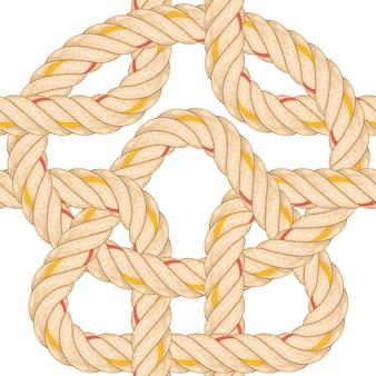 Modèle sans couture avec la flexion de la corde.