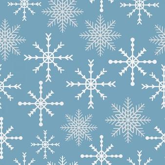 Modèle sans couture de flocon de neige hiver