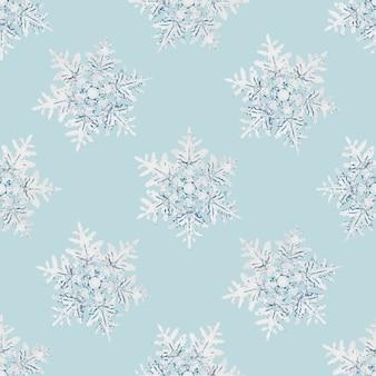 Modèle sans couture de flocon de neige de noël