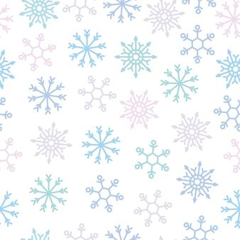 Modèle sans couture de flocon de neige pour décoratif