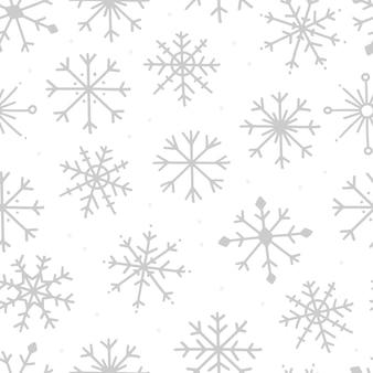Modèle sans couture avec des flocons de neige sur fond blanc vector illustration hiver fond