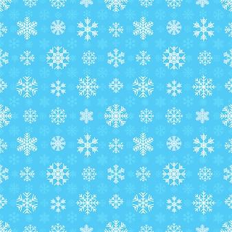 Modèle sans couture avec des flocons de neige