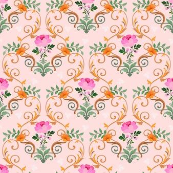 Modèle sans couture floral abstrait