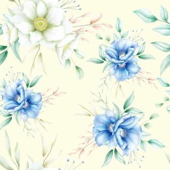 Modèle sans couture floral aquarelle élégant