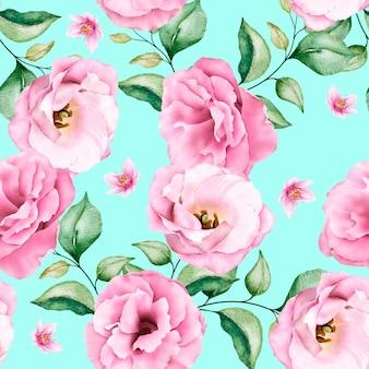 Modèle sans couture floral aquarelle rose tendre