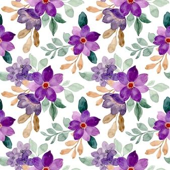 Modèle sans couture de floral aquarelle violet