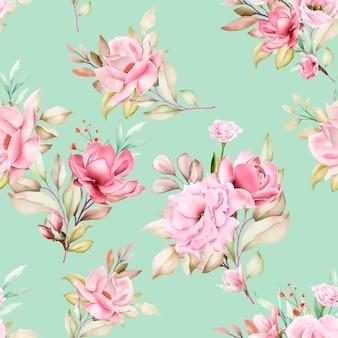 Modèle sans couture floral aquarelle