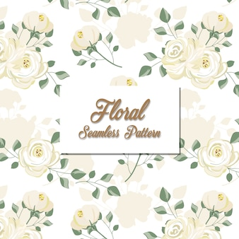 Modèle sans couture floral blanc