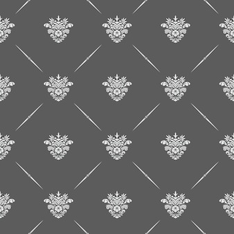 Modèle sans couture floral classique de vecteur pour les arrière-plans et les invitations