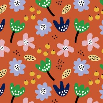 Modèle sans couture floral coloré de l'automne