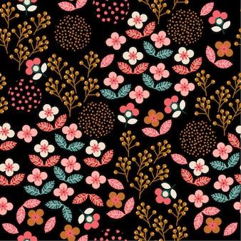 Modèle sans couture floral coloré de liberté géométrique