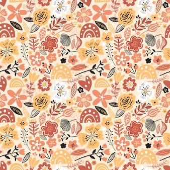 Modèle sans couture floral coloré