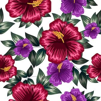 Modèle sans couture floral colorf