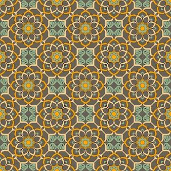 Modèle sans couture floral ethnique avec des mandalas