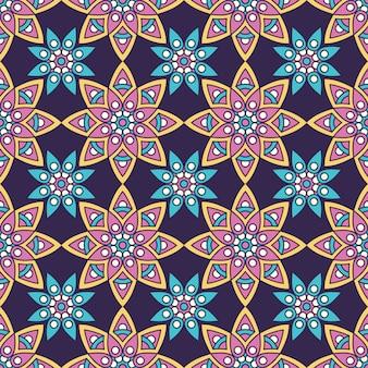 Modèle sans couture floral ethnique