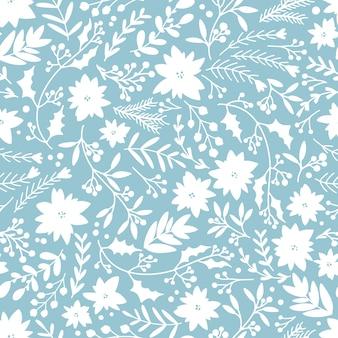 Modèle sans couture floral de noël hiver.