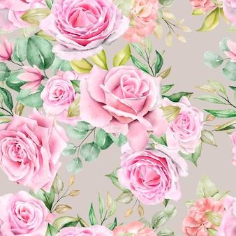 Modèle sans couture floral romantique